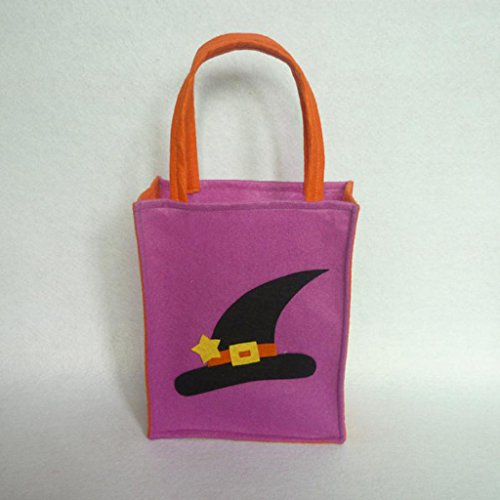 Jili Online Pieces of 6 Non-woven Fabric Mixed Style Halloween Holiday Trick or Treat Loot Tote Bags with Handle Home Party Gift Bags by Jili Online (Image #2)