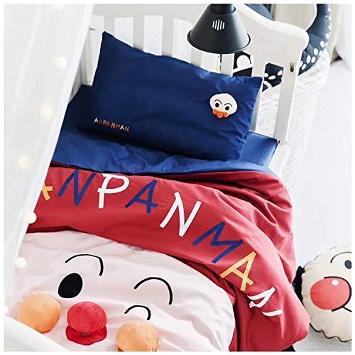 漫画の綿の子供の幼稚園昼寝キットロングステープルコットン刺繍スリーピース親子 (Color : Red, Size : L) B07PPG8KJK