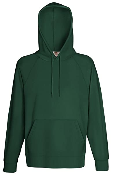 Fruit of the Loom - Sudadera con Capucha - para Hombre Verde Verde Botella Medium: Amazon.es: Ropa y accesorios