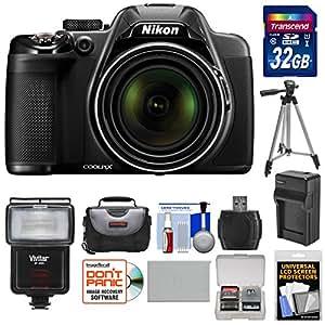 Nikon Coolpix P530 Digital Camera with 32GB Card + Battery & Charger + Case + Tripod + Flash/LED Light + Kit