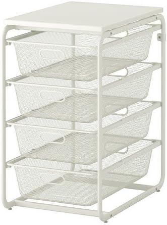 Ikea Algot Cadre 4 Paniers Fil Reseau Deckplatte Systeme De Rangement En Blanc 41 X 60 X 72 Amazon Fr Cuisine Maison