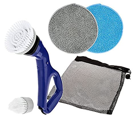 HY-C PSBRUSH Replacement Scrubber Heads For HY-C Compact and Multi-Purpose Electric Power Spin Scrubbers, White, Includes 4 Brushes