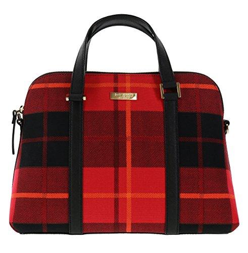 Kate Spade New York Newbury Lane Plaid Small Rachelle Convertible Handbag (Plaid Red) by Kate Spade New York