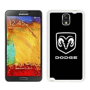 DIY Case dodge logo 1 Samsung Galaxy Note 3 Case in White