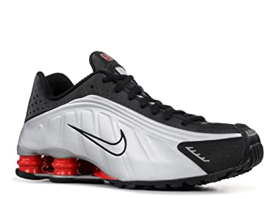 brand new 15628 1687a Amazon.com | Nike Mens Shox R4 Sneakers New, White/Silver/Red BV1111 ...