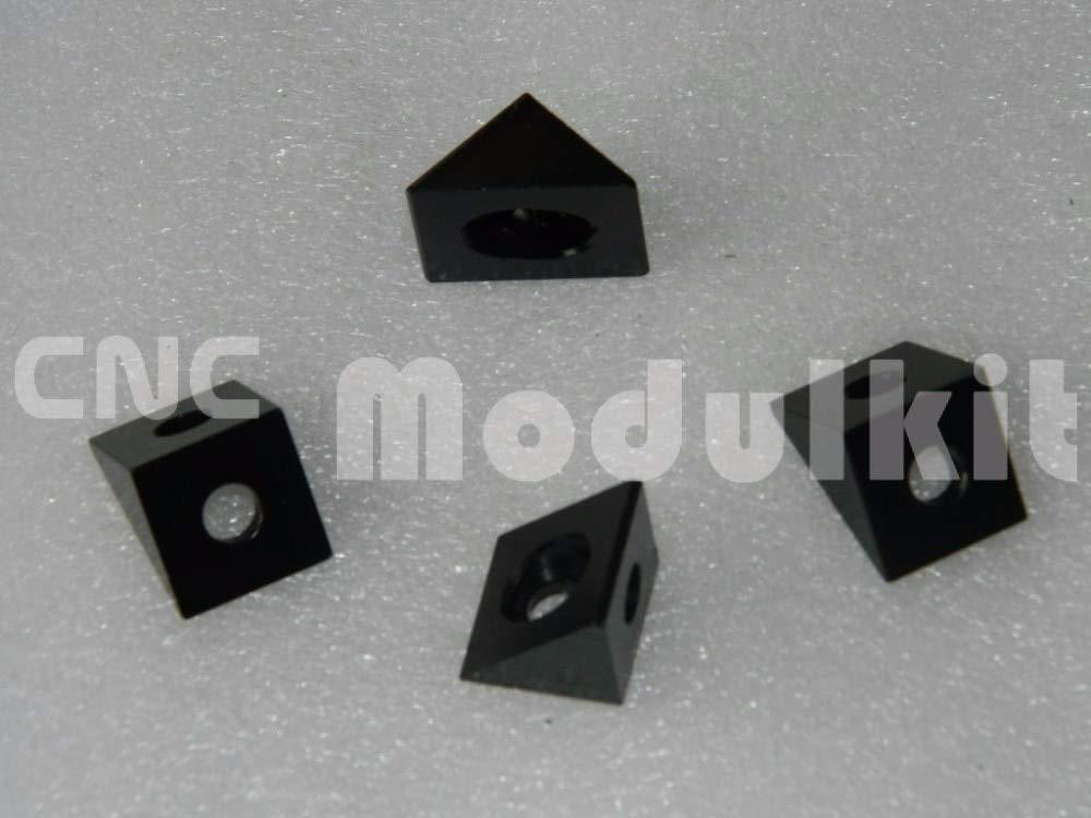 Nuts Open Builds C Beam Aluminum Block Black 90D Angle Corner Connector 3D Printer Triangular Fitting Blast Oxidation CNC Modulkit - (Size: 30pc, Color: Black)