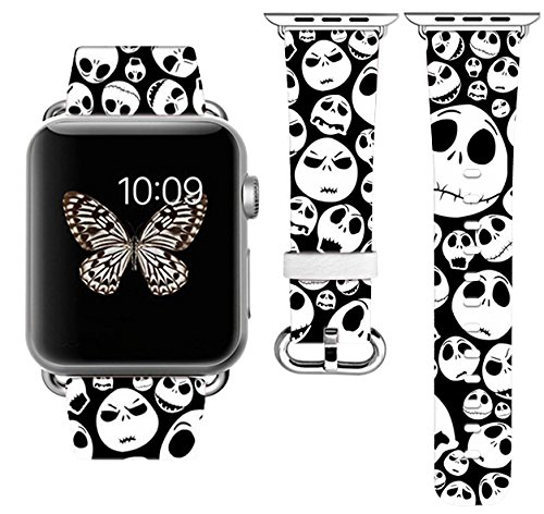Halloween Apple Watch Band 42MM 44mm Stainless Steel Connector iWatch Band for Apple Watch 42mm 44mm iWatch Band for Apple Watch 38mm Series 1 Series 2 Series 3 Series 4 (38-40mm S/M)