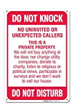 Best No Soliciting Signs - No Soliciting Sign - Do Not Knock Review