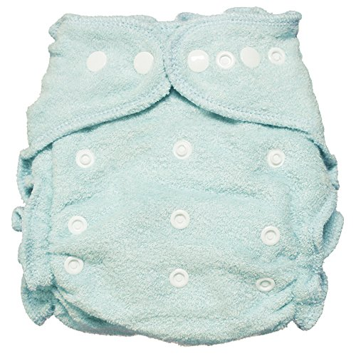 Imagine Baby Products Fitted Bamboo Diaper 2.0, Indigo, Snap -