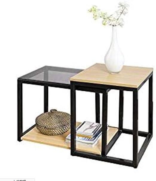 Folding table Nan Mesas Nido, Juego de 2 Mesita Auxiliar Mesa ...