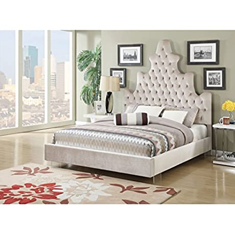 ACME Furniture 25027EK Honesty Bed Eastern King Sand Plush