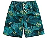 KM Couple's Beach Shorts/Surf Shorts With Pocket Quick Dry Casual#Green (Male 4XL)
