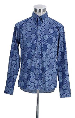 CosDaddy Mens Cosplay Hexagon Shirt Costume (L-Man)