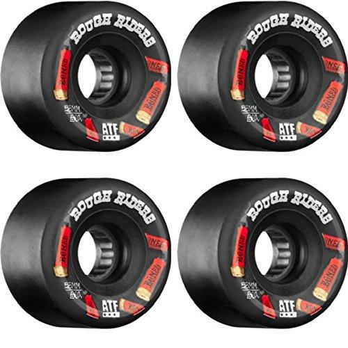 牧草地出発蓮Bones Wheels ATF Rough Rider Shotgunブラックスケートボードホイール – 59 mm 80 a ( Set of 4 )
