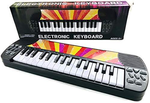 ELECTRONIC KEYBOARD WITH 8 SOUNDS EFFECT, 8 RHYTHM SOUNDS, VOLUME DOWN & UP, XYLOPHONE MODE, FLUTE MODE, MANDOLINE MODE, AUTO, MUSIC, STOP. RECORD, REPLAY !! WRITE & RECORD (COLOR: SUNBURST) -
