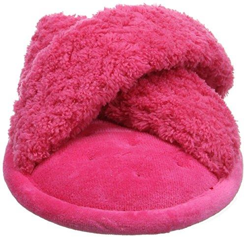 Isotoner Ladies Popcorn C/Strap Slippers, Pantoufles Femme Rose (Rose vif)