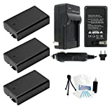 3-Pack D-LI109 High-Capacity Replacement Batteries with Rapid Travel Charger for Select Pentax Digital Cameras. UltraPro Bundle Includes: Camera Cleaning Kit, LCD Screen Protector, Mini Travel Tripod