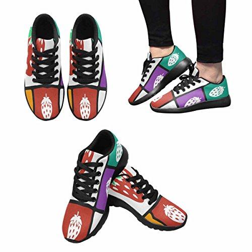 Scarpa Da Jogging Leggera Da Donna Running Running Leggera Easy Go Walking Comfort Sport Scarpe Da Corsa Fragola Icon Multi 1