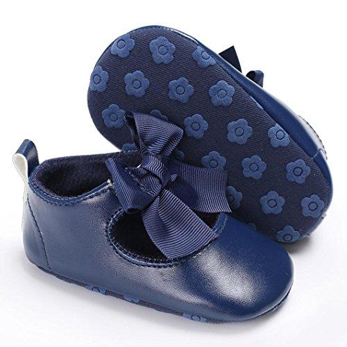 Hunpta Baby Bowknot Prinzessin Soft Sohle Schuhe Kleinkind Turnschuhe Freizeitschuhe Navy