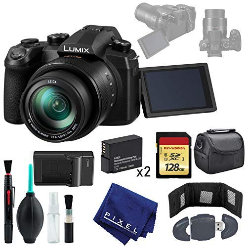 Panasonic Lumix DC-FZ1000 II Camera - Wallet & Reader - 128GB Memory Card - Case - Battery x2 - Rapid Charger (Panasonic Reader)