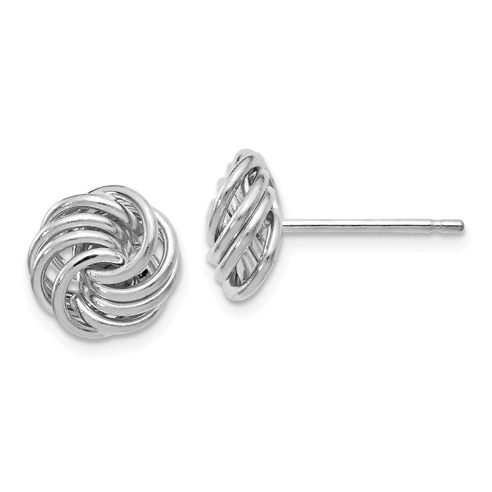 Best Birthday Gift Leslies 14k White Gold Polished Love Knot Post Earrings
