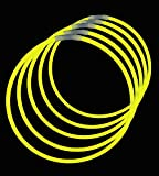 ": 22"" Lumistick Glowstick Glow Stick Necklaces YELLOW (200 Necklaces)"
