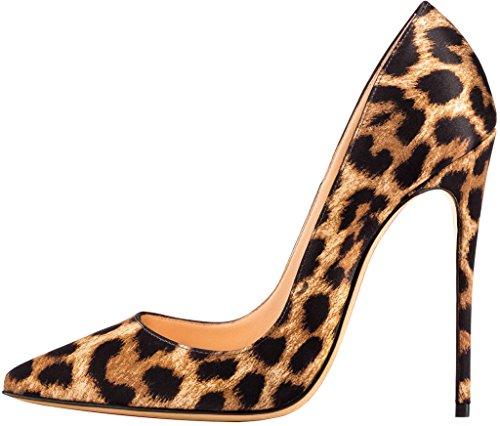 Calaier Womens Cahen Pointed-Toe 12CM Stiletto Slip-on Pumps Shoes Multicoloured B iCt9zW9Qo