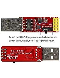 2 adaptadores USB a ESP-01, ESP8266 Wireless WiFi Módulo Wi-Fi CH340G, UART PORG, 4,5   5,5 V, 115200 Baud Rate