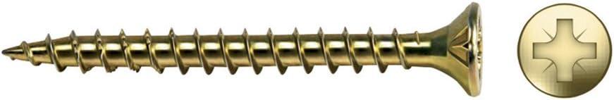 Tornillo para Madera Velox Rosca Completa Cabeza Avellanada Impronta Pz Di/ámetro 6X80 Mm 100 Unidades Bicromatado Celo 9B680Vlox