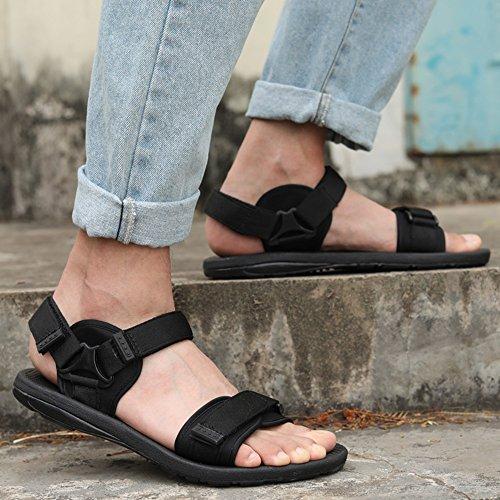 Shoes EU42 Uk6 Breathable 5 CN43 Color Cn39 Non Beach Black Shoes Simple Men's Shoes Sandals MAZHONG Casual Men's Men's slip UK8 eu39 Black CxwTZU1v5q