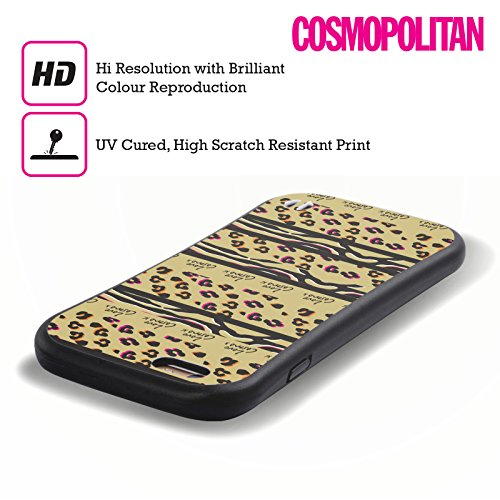 Official Cosmopolitan Stripes Animal Print Hybrid Case for Apple iPhone 6 / 6s