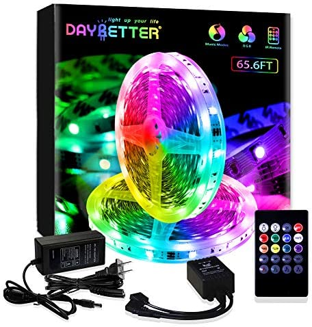Daybetter 65.6ft Led Strip Lights Sync to Music with Remote Control (2 Rolls of 32.8ft)