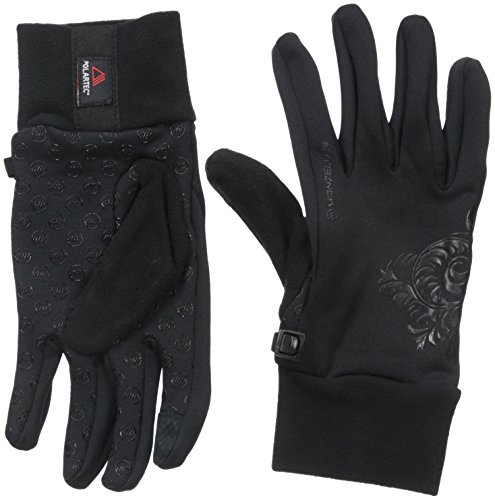 Manzella Women's Power Stretch Ultra Touch Tip Gloves, Black,Small/Medium