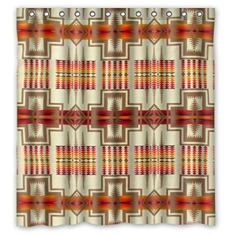 Pendleton Chief Joseph Polyester Bathroom Shower Curtain 66Wx72H