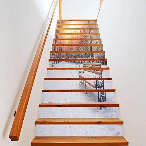TNFUFP Stickers para escaleras, 6 Unids Piedras Preciosas Efecto 3DDIY Pasos Etiqueta Engomada Extraíble Pegatinas Escalera Decoración del Hogar Paisaje Etiqueta 18 * 100cm -18 * 100cm yy029