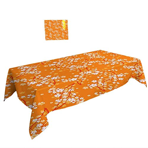 Rectangular Table Cloth for Foot Table in Washable Polyester W50 x L80 INCH,Dolphin Decor Stars Special Edition Wall Art Prints Home Decoration House Ideas Fabric Turquoise Teal Yellow Ivory. Dinne ()