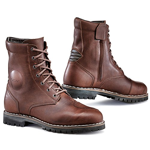 Leather Street Motorcycle Boots (TCX 7295W Hero Mens Street Motorcycle Boots - Vintage Brown Size Eu 41 / Us 8)