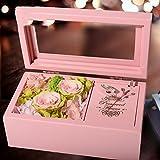 Immortal Flowers Music Box/ Creative Gift/ The Rose Flower Gift Box-I