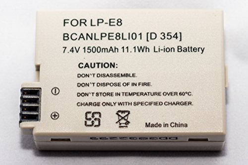 STK LP-E8 Battery Charger - for Canon Rebel T3i, T2i, T4i, T5i, EOS 600D, 550D, 650D, 700D, Kiss X5, X4, Kiss X6, Canon LC-E8E Replacement