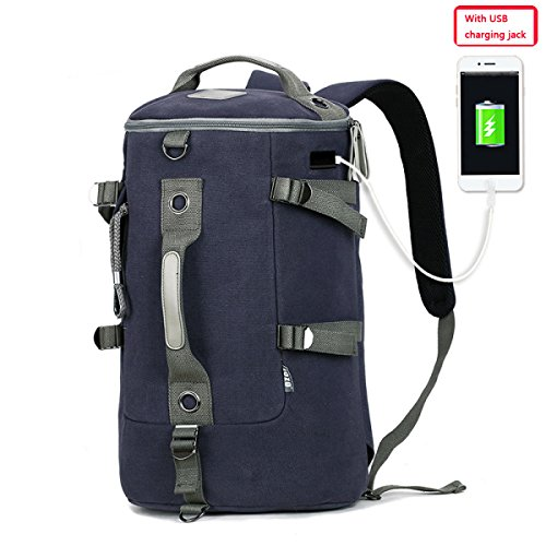 Travel Outdoor Computer Backpack Laptop bag big (darkblue) - 5