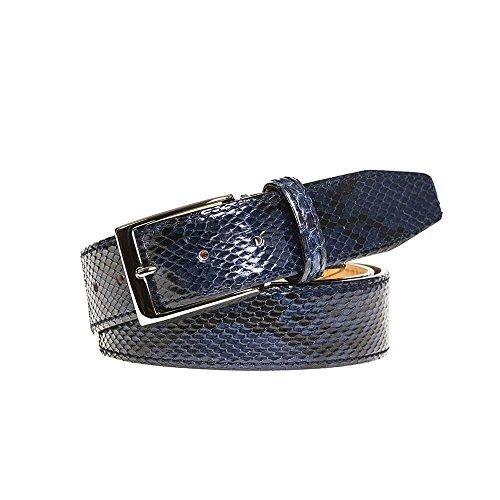 Blue Python Leather Belt by Roger Ximenez: Bespoke Maker of Fine Leather Goods