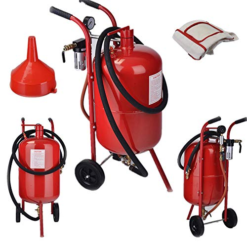 9TRADING New 10 Gallon Portable Air Sandblaster Sand Blaster Kit