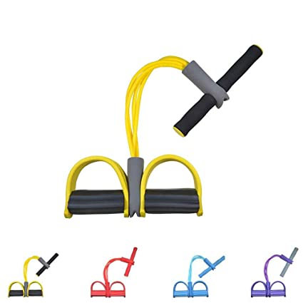 Gfung - Cuerda para ejercitar piernas, 4 Tubos, multifunción, para Yoga, Fitness, Pedal, dominadas, Culturismo, etc. Bandas de Ejercicio de ...