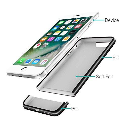 size 40 0590d d9a6a iPhone 8 Case / iPhone 7 Case, CaseCrown Lux Glider Case (Jet ...
