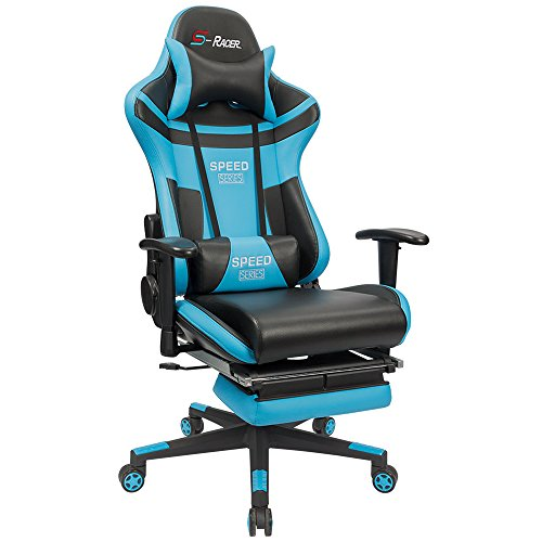 [Upgraded Version]Homall High Back Video Gaming Chair Ergonomic Design Bucket Seat with Exquisite Gift Packaging,Including Headrest and Lumbar Support by Homall