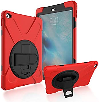 Totoose Estuche para iPad Air 2 iPad 6, Diseño Creativo Rojo Bolsitas Atrás Estuche con Piel Cubierta de protección de Bordes Compatible con iPad Air 2 iPad 6: Amazon.es: Electrónica