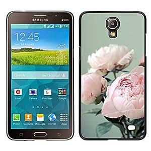 Samsung Galaxy Mega 2 / SM-G750F / G7508 Único Patrón Plástico Duro Fundas Cover Cubre Hard Case Cover - Bouquet Flowers Floral Pink