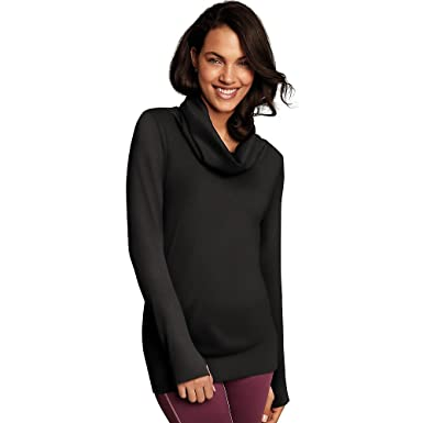 2795d7ff3f Maidenform Women s Seamless Sport Baselayer Thermal Cowl Neck Tunic at Amazon  Women s Clothing store