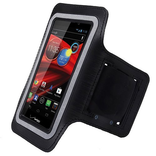 Black ArmBand Workout Case Arm Band Cover Screen - Cell Phone Covers Razor Max