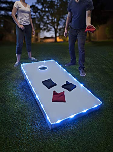 Brightz TossBrightz Cornhole/Bean Bag Game LED Lighting Kit (Lights Only, No Boards), Blue